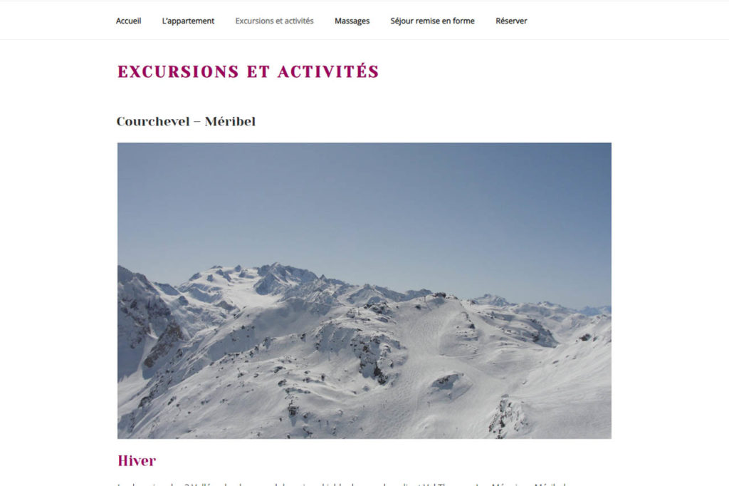 page de blog du site fleurs de vie, avec des grandes photos des paysages environnants