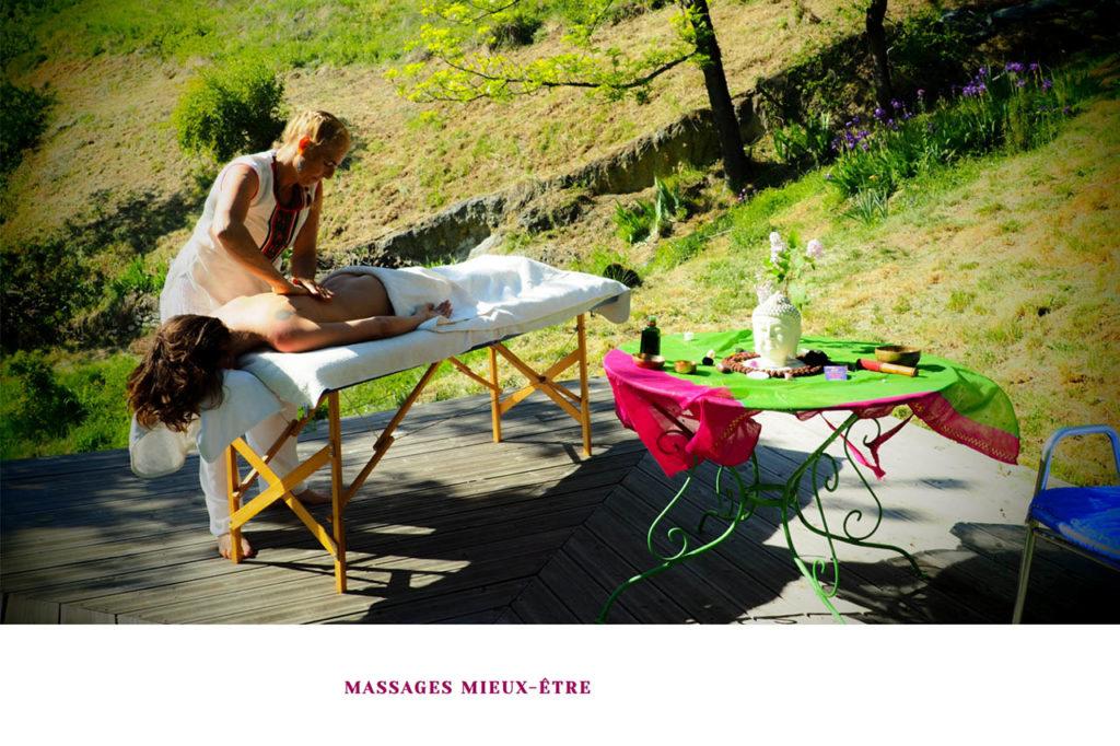 page massages du site fleurs de vie