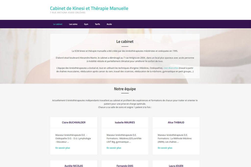 Page d'accueil d'un site vitrine